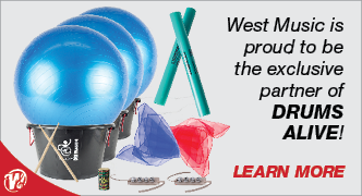 West Music is a Proud Partner of Drums Alive