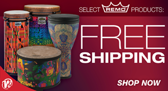Free Shipping on Select Remo Drums!