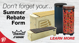 2018 Summer Rebate on Remo and Sonor products