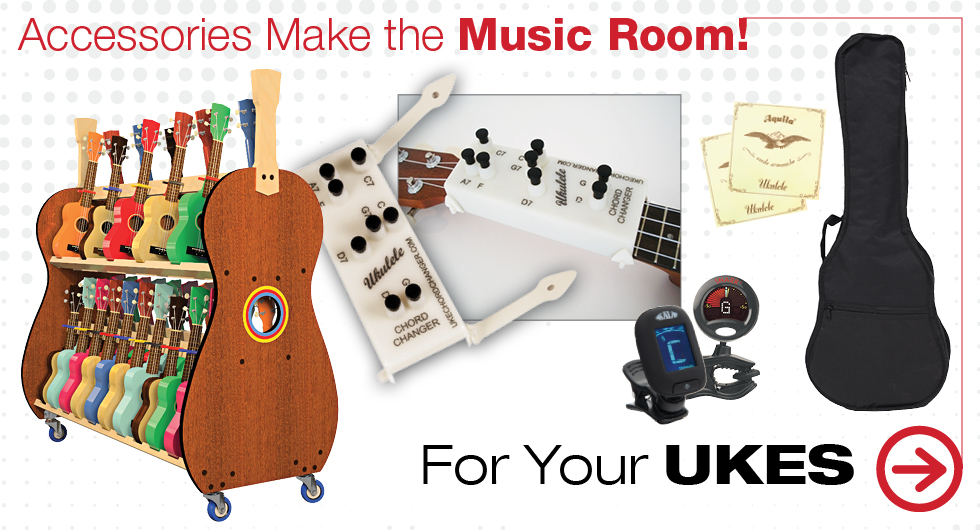 Accessories that make the music room! Ukuleles