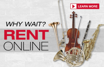 Rent instruments at West Music