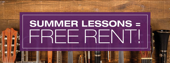 Free Rental with Summer Lessons
