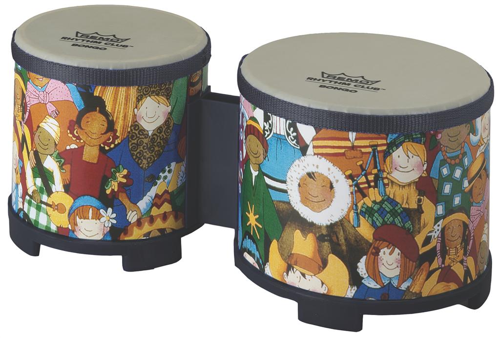 Rhythm Kids Remo RH-5600-00 Rhythm Club Bongo Drum 5-6
