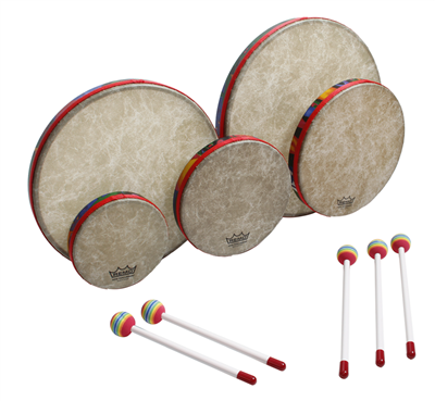 f3938d605fb9 Remo Kids Percussion KD-0500-01 5pc Frame Drum Set