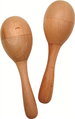 basic beat bb013 natural wood maracas west music