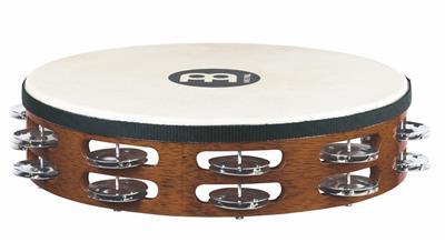 Brown Meinl Steel Jingles African Tambourine