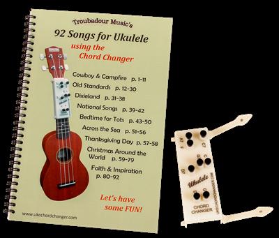 Troubadour Ukulele Chord Changer and Songbook Set